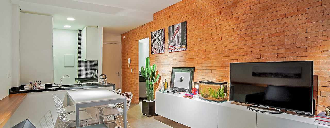 Salas / recibidores de estilo  por Studio Boscardin.Corsi Arquitetura,
