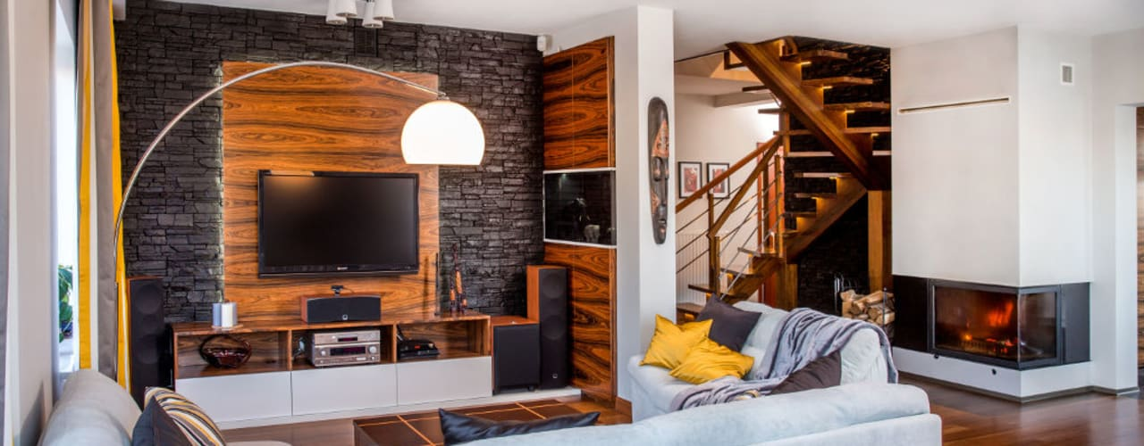 Ruang Keluarga Modern Oleh Viva Design - projektowanie wnętrz Modern