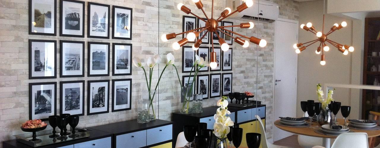 Phòng ăn phong cách chiết trung bởi Fabiana Rosello Arquitetura e Interiores Chiết trung