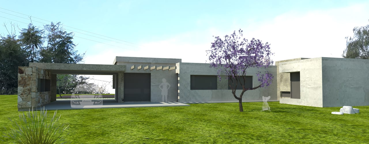 fachada back: Casas de estilo  por modulo cinco arquitectura
