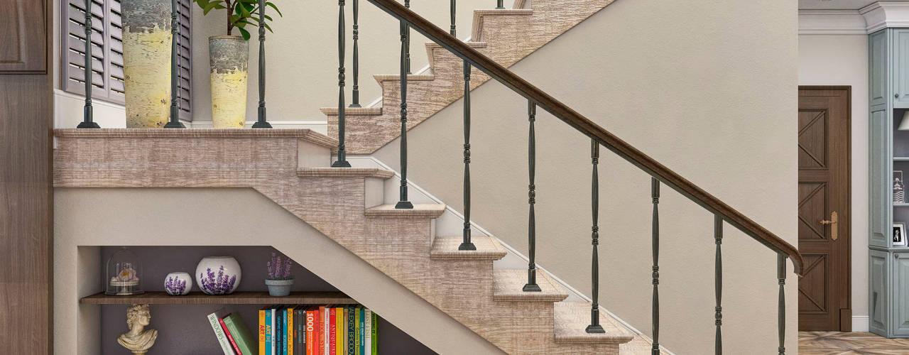 Pasillos, vestíbulos y escaleras de estilo mediterráneo de Студия дизайна Дарьи Одарюк Mediterráneo