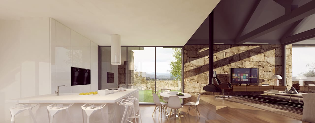 مطبخ تنفيذ Davide Domingues Arquitecto