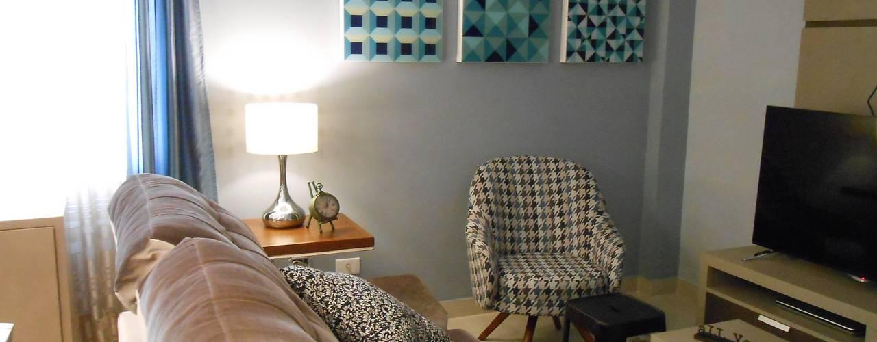 Salas / recibidores de estilo  por Mariana Von Kruger Emme Interiores