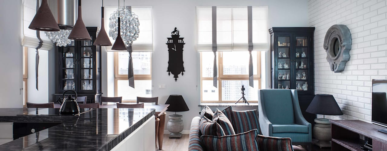 """Квартира """"Лофт с видом"""" Гостиная в стиле лофт от Архитектор Татьяна Стащук Лофт"""