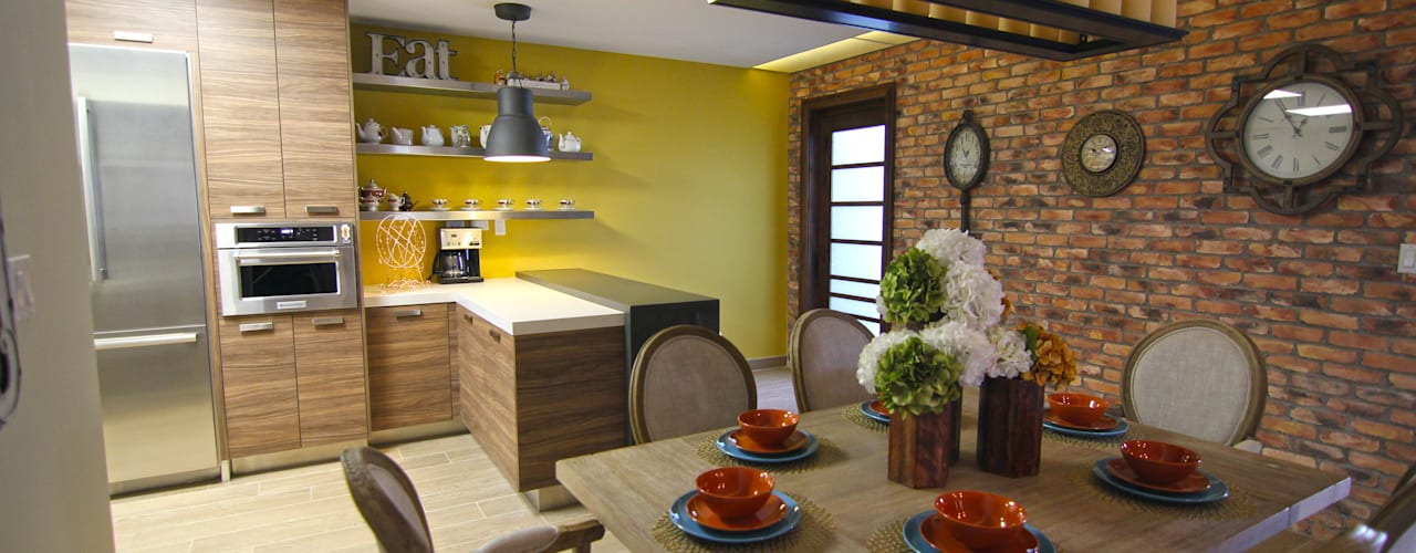 Eclectic style dining room by Lo Interior Eclectic