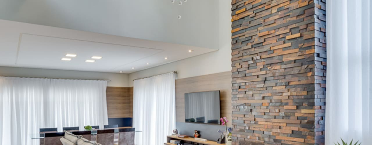 Salas de estilo  por Angelica Pecego Arquitetura, Moderno