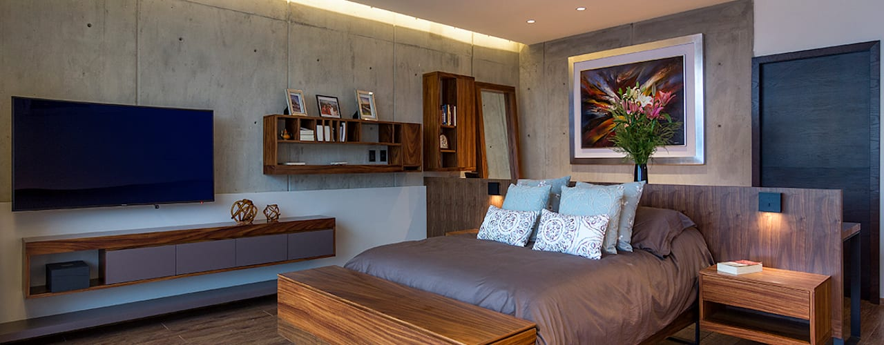Modern style bedroom by BURO ARQUITECTURA Modern