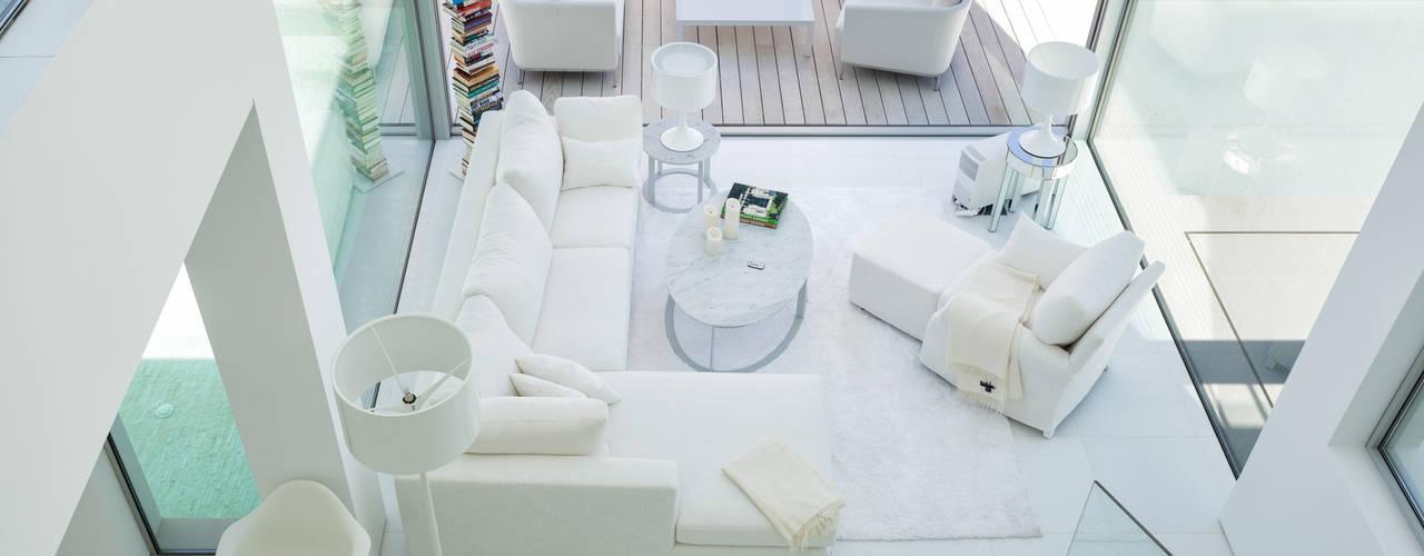 Vale do Lobo 1147 Salas de estar minimalistas por JSH Algarve Arquitectura Lda Minimalista