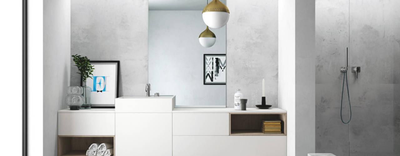 SMART progetto 4 Nova Cucina Bagno in stile scandinavo Bianco