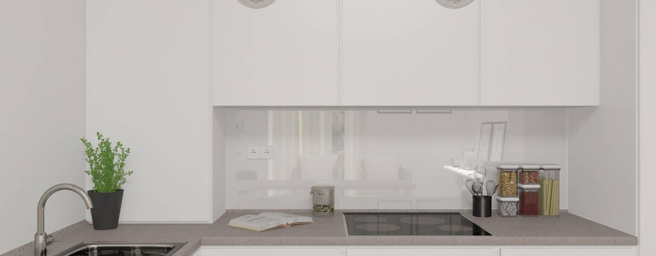 Cocinas de estilo escandinavo por Lagom studio