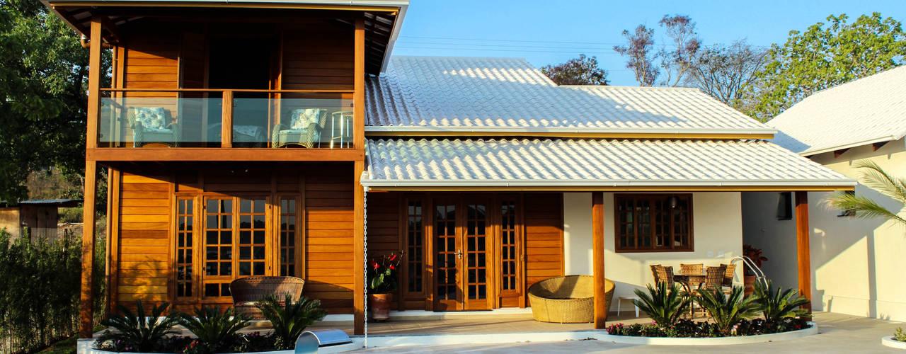 rustic  by CASA & CAMPO - Casas pré-fabricadas em madeiras, Rustic