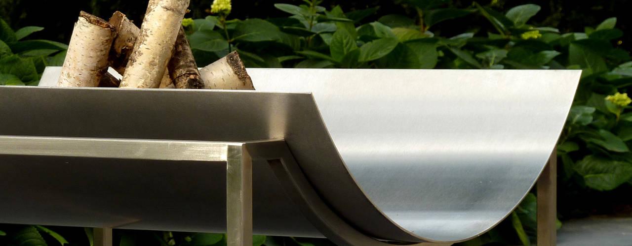 Feuerschalen Finoform GartenFeuerplätze und Grill Metall Metallic/Silber