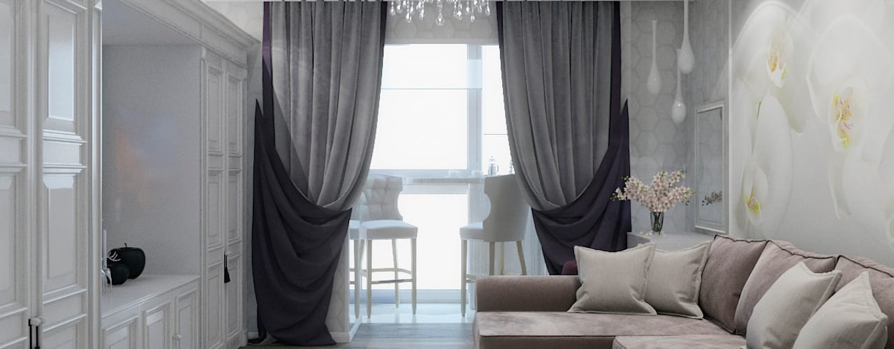 Salas de estilo  por Студия дизайна интерьера Маши Марченко