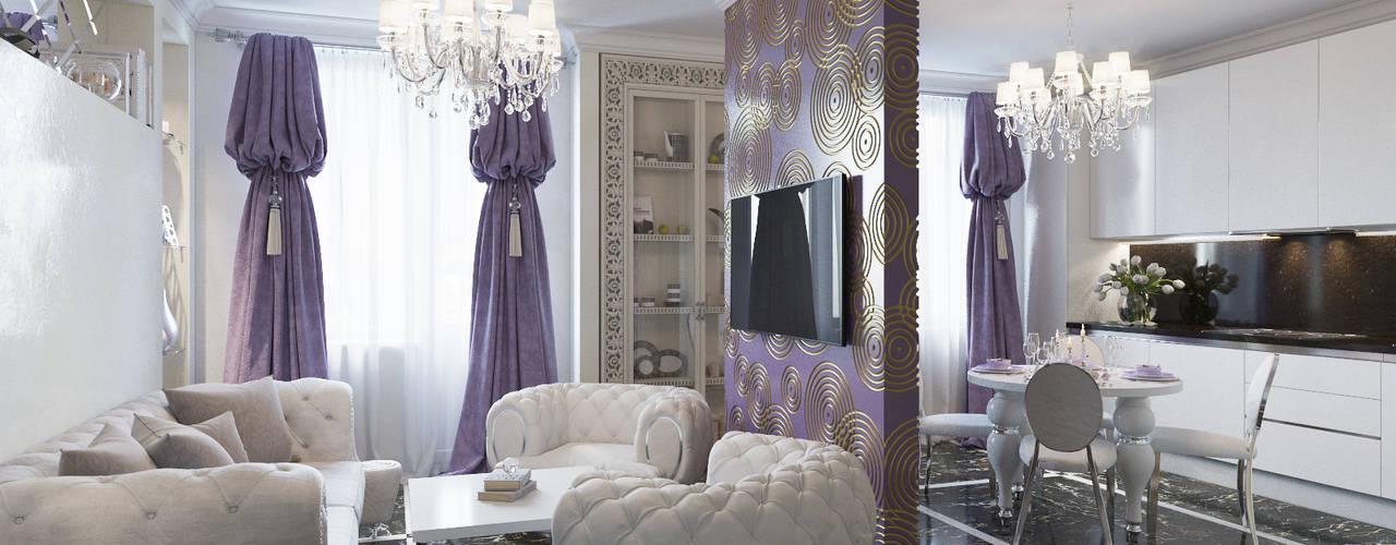 Студия дизайна интерьера Маши Марченко Living room