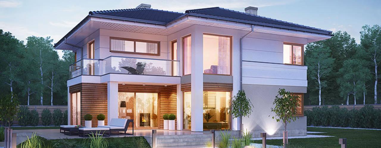 Projekt domu ARCHON+ Willa Oliwia: styl , w kategorii  zaprojektowany przez ARCHON+ PROJEKTY DOMÓW