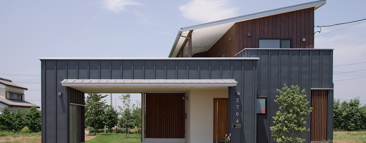 Modern garage/shed by 空間設計室/kukanarchi Modern