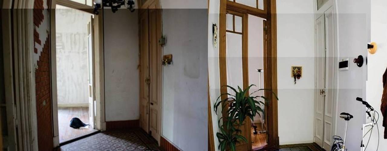 Pasillos, vestíbulos y escaleras eclécticos de homify Ecléctico