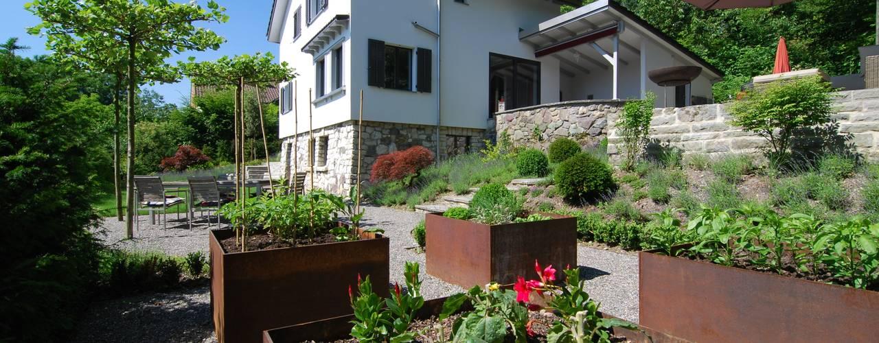 Jardin moderne par Lustenberger Schelling Landschaftsarchitektur Moderne