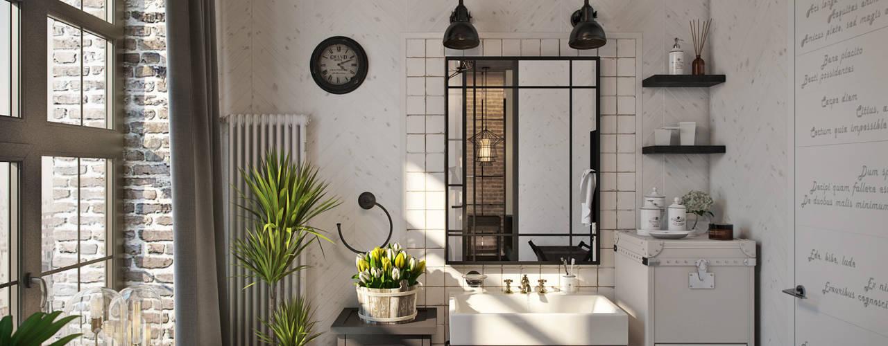 Industrial style bathrooms by Александра Клямурис Industrial