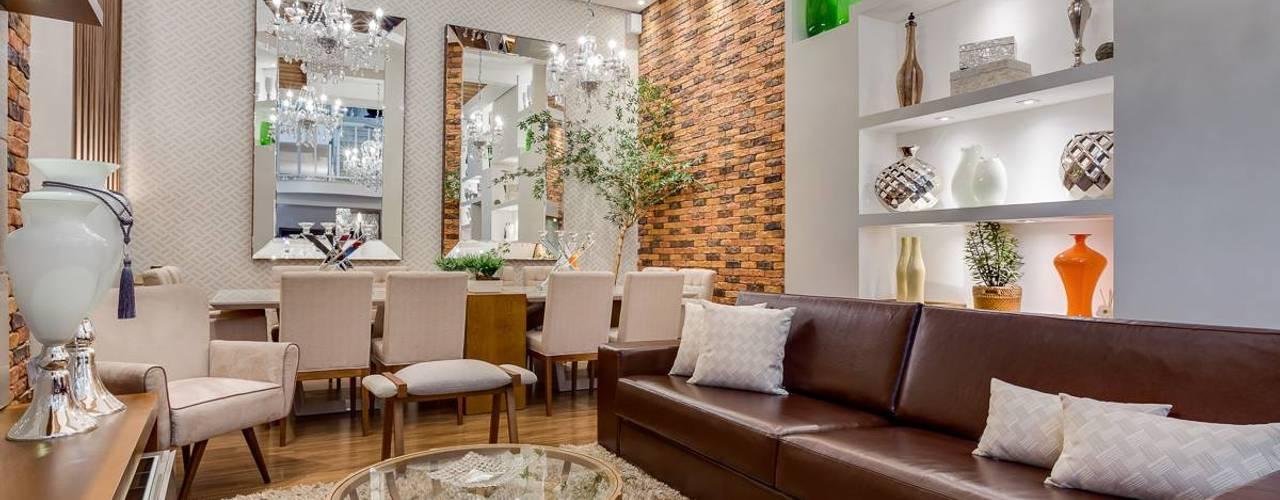 Salones de estilo  de Ideatto Móveis e Decorações, Moderno