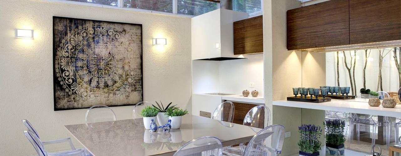 Espaço Gourmet - Ville Bosquée Salas de jantar modernas por Michelle Machado Arquitetura Moderno