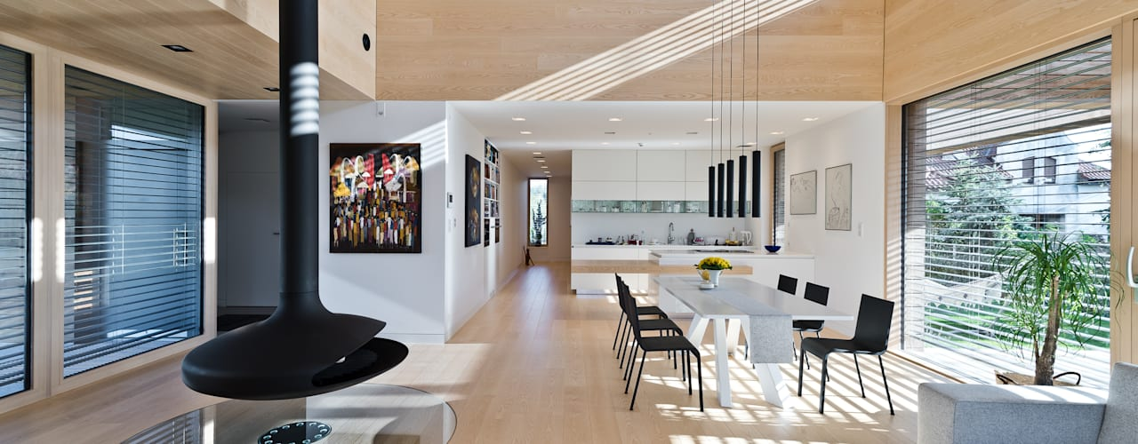 Cedar House: styl , w kategorii Salon zaprojektowany przez Fotografia Przemysław Turlej,Skandynawski