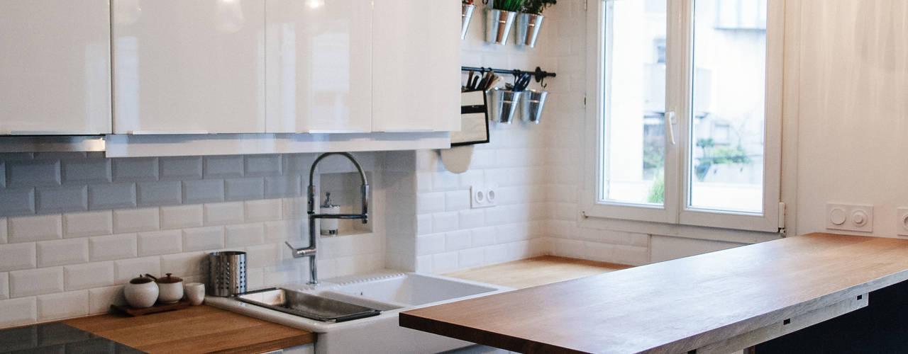 Appartement 48m² Cuisine moderne par Lise Compain Moderne