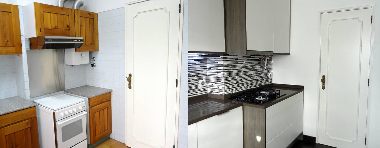 Kitchen by Happy Ideas At Home - Arquitetura e Remodelação de Interiores, Modern