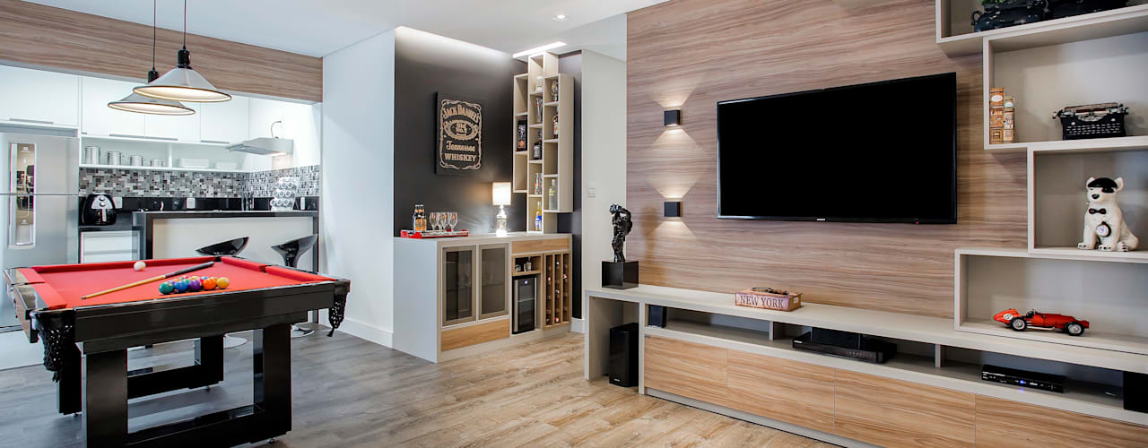 Salones de estilo clásico de Andressa Saavedra Projetos e Detalhes Clásico