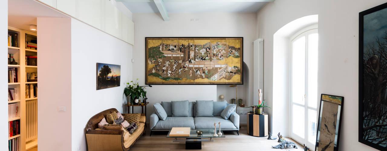 Projekty,  Salon zaprojektowane przez cristianavannini   arc