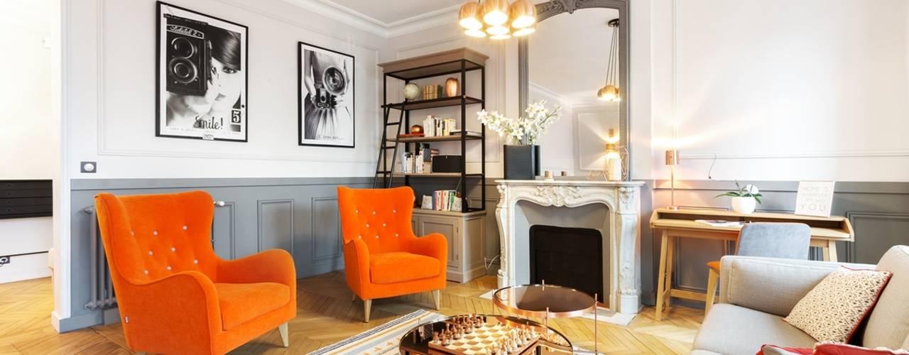 Projekty,  Salon zaprojektowane przez Carnets Libellule