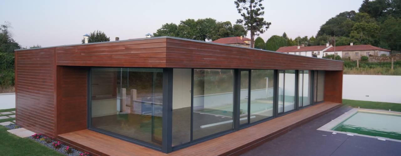 Casa de madeira Lethes House em Ponte de Lima Casas modernas por Lethes House Moderno