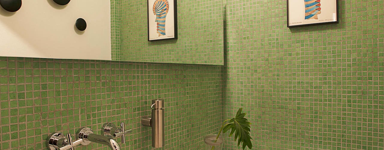 Baños de estilo moderno de Germán Velasco Arquitectos