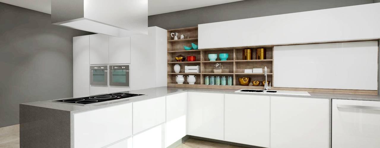 Teia Archdecor Modern kitchen Marble White