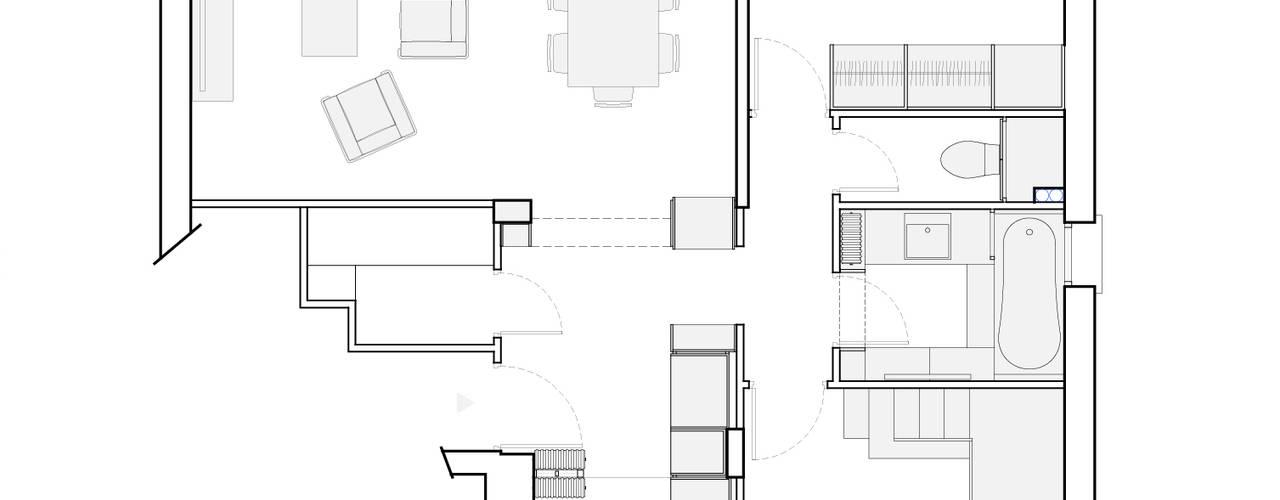 Гостиная в стиле минимализм от Belle Ville Atelier d'Architecture Минимализм