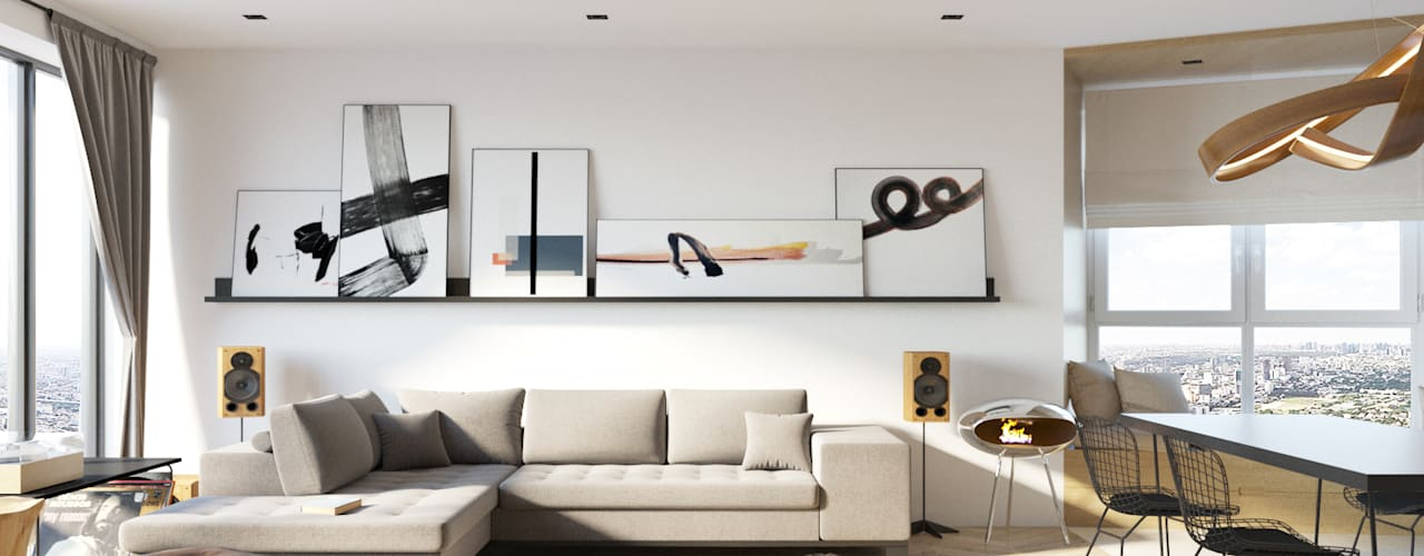 Salas de estar minimalistas por homify Minimalista