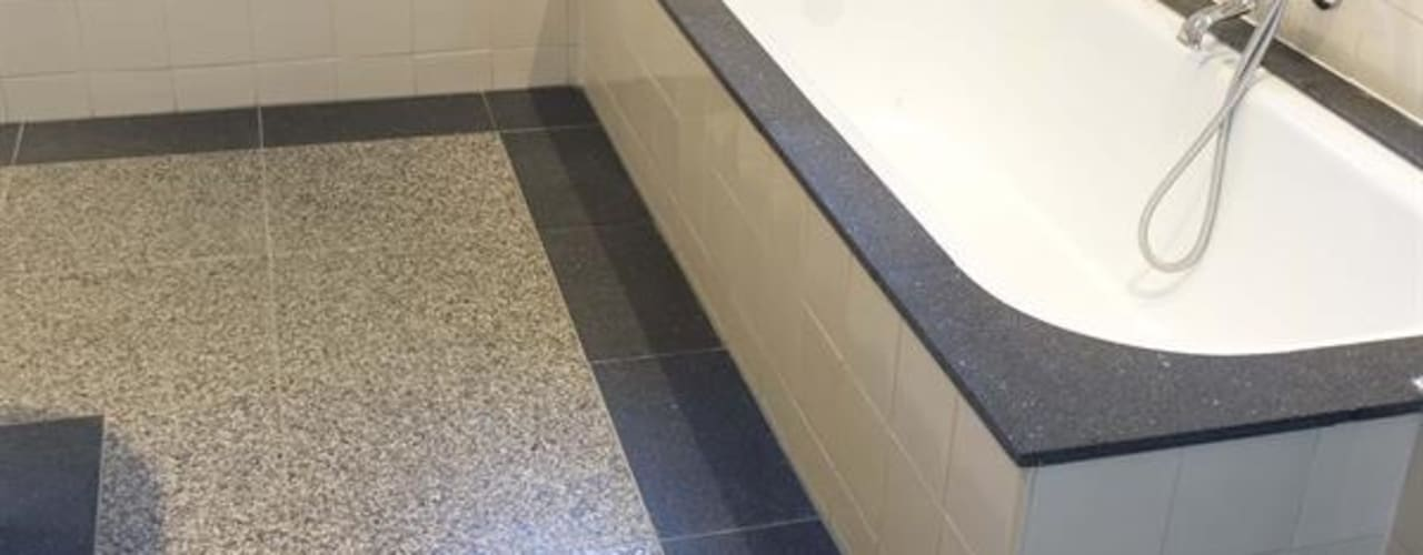 Bekend Een terrazzo vloer in de badkamer: 6 fraaie voorbeelden! FK98
