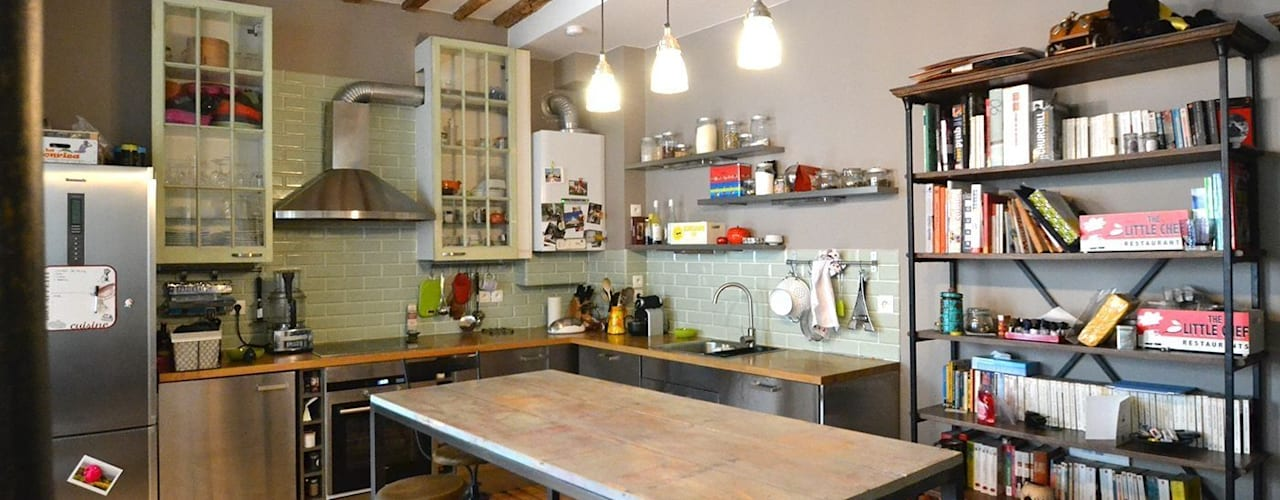 Industrial style kitchen by Gembu Interior Design Industrial