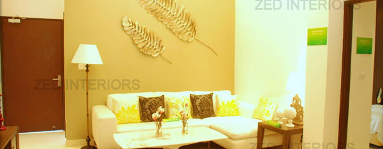 Modern living room by ZED Associates Pvt. Ltd. Modern