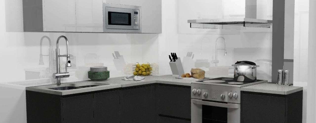 COCINA PEQUEÑA: Cocinas de estilo  por ARCE FLORIDA