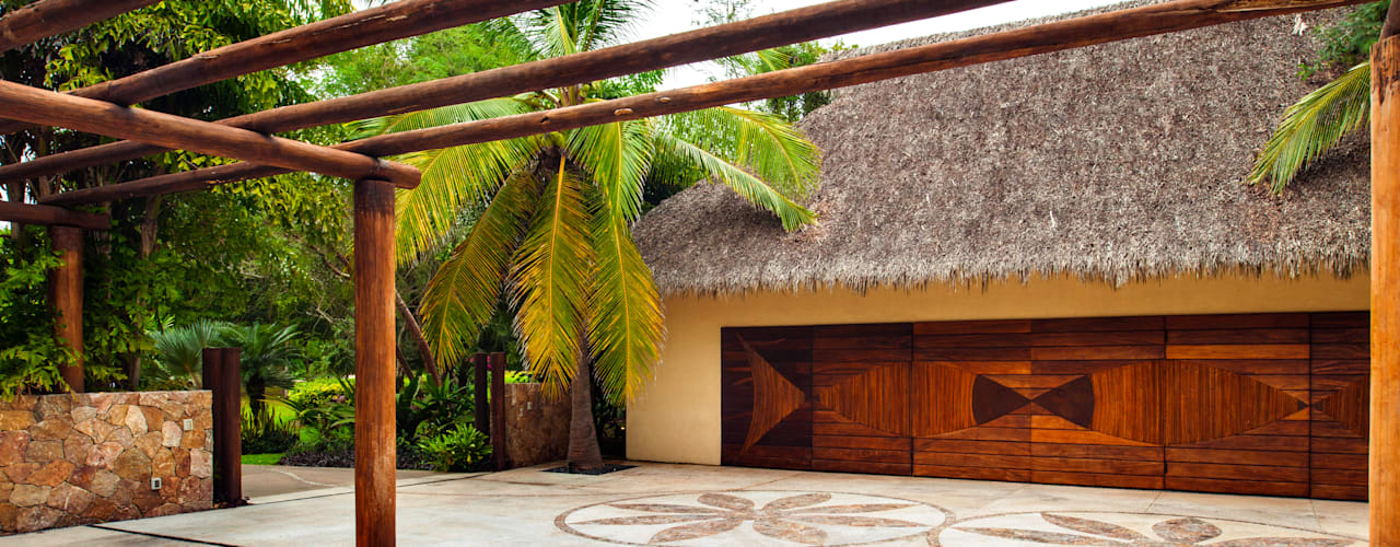 Walls by BR  ARQUITECTOS, Tropical
