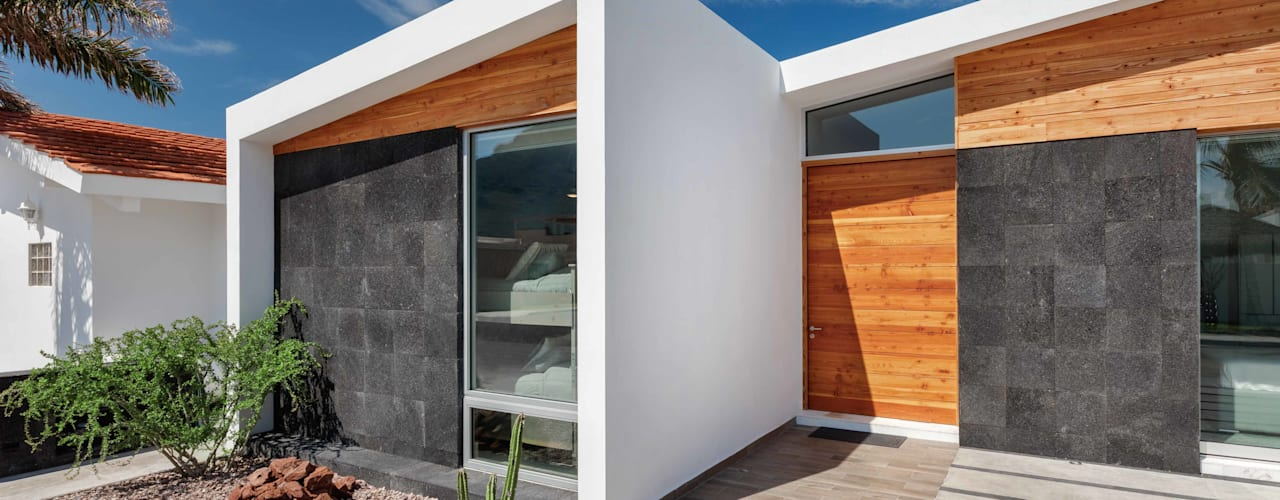 Imativa Arquitectos Дома в стиле модерн Дерево Белый