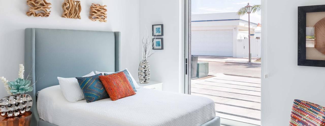 Imativa Arquitectos Modern style bedroom Glass White