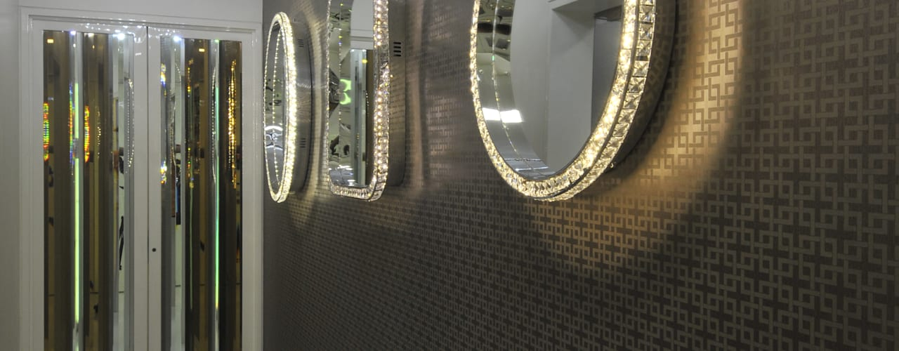 Site at Juhu Modern corridor, hallway & stairs by Mybeautifulife Modern