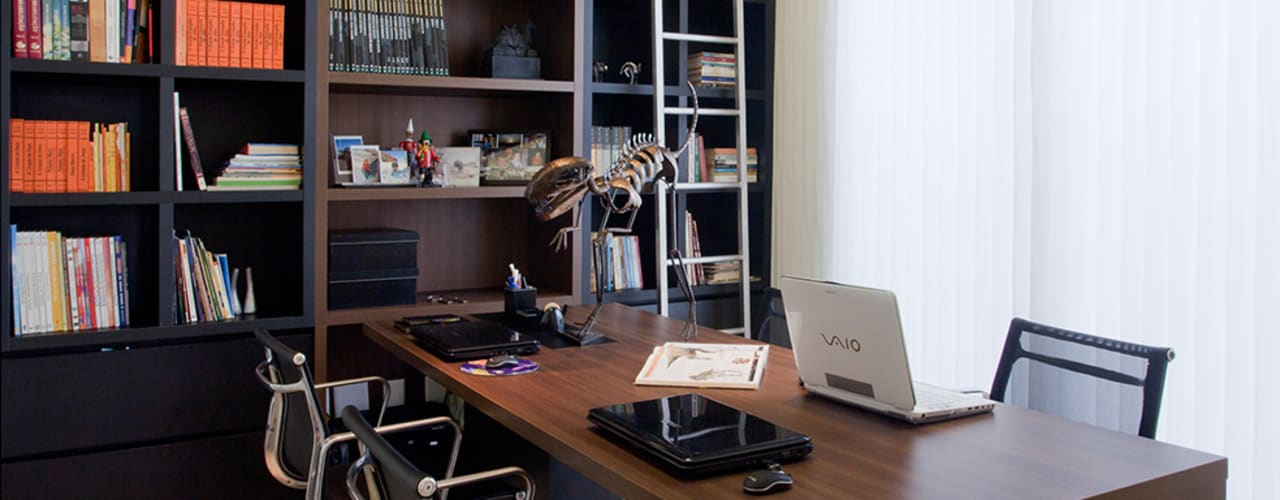 Modern study/office by Maria Helena Caetano _ Arquitetura e Interiores Modern