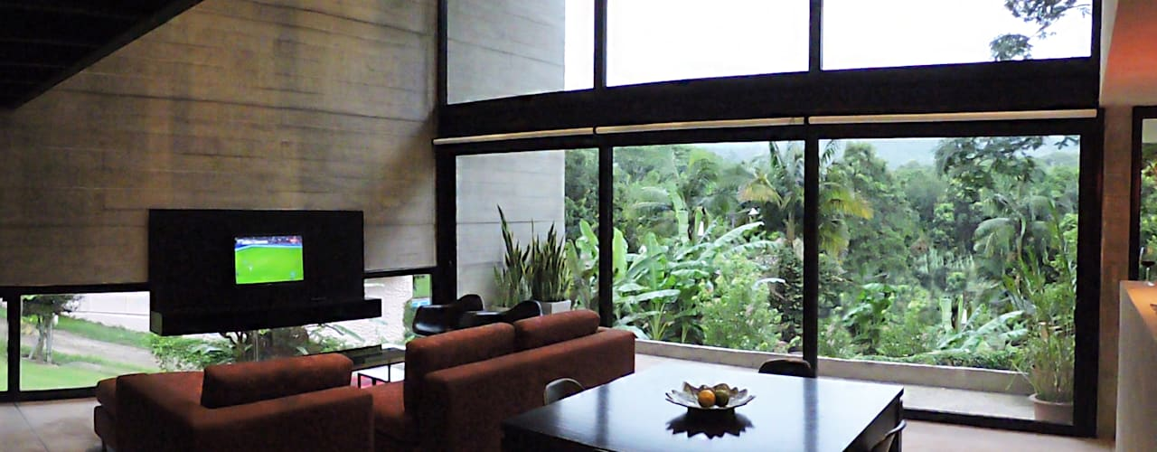 casa DL: Livings de estilo  por jose m zamora ARQ