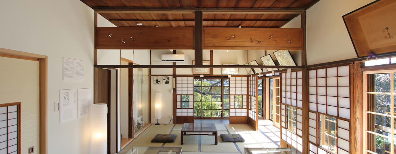 築100年の古民家耐震リノベーション 和風デザインの 多目的室 の 菅原浩太建築設計事務所 和風