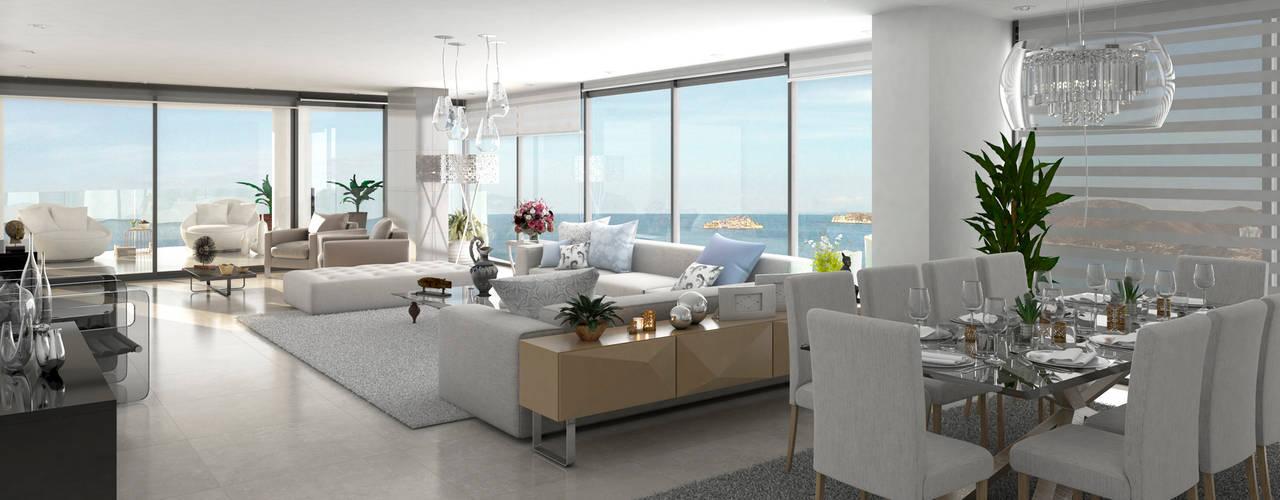 Moderne woonkamers van Area5 arquitectura SAS Modern