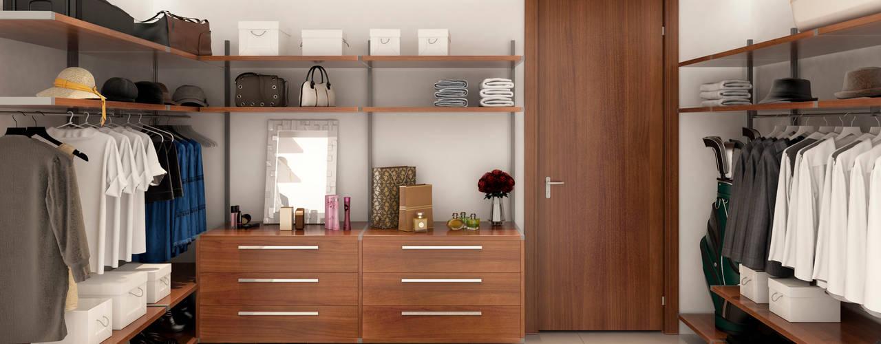 Proyecto de viviendas de lujo - Morano Mare Vestidores de estilo moderno de Area5 arquitectura SAS Moderno