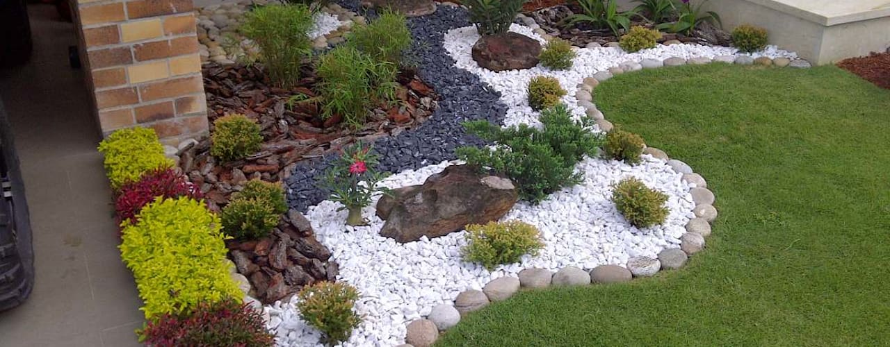 Projekty,  Ogród zaprojektowane przez Jardines Paisajismo Y Decoraciones Elyflor